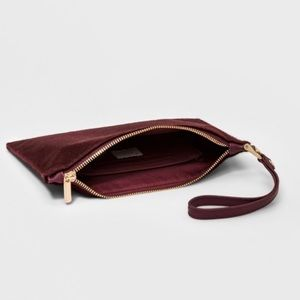 a new day faux calf hair clutch wristlet pouch